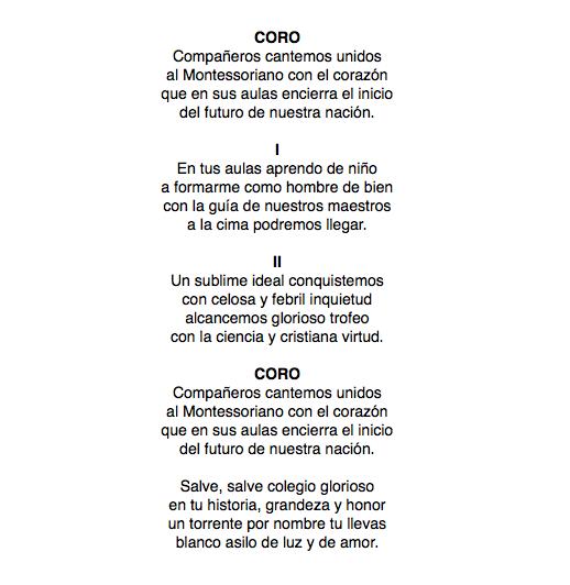 Himno Montessoriano
